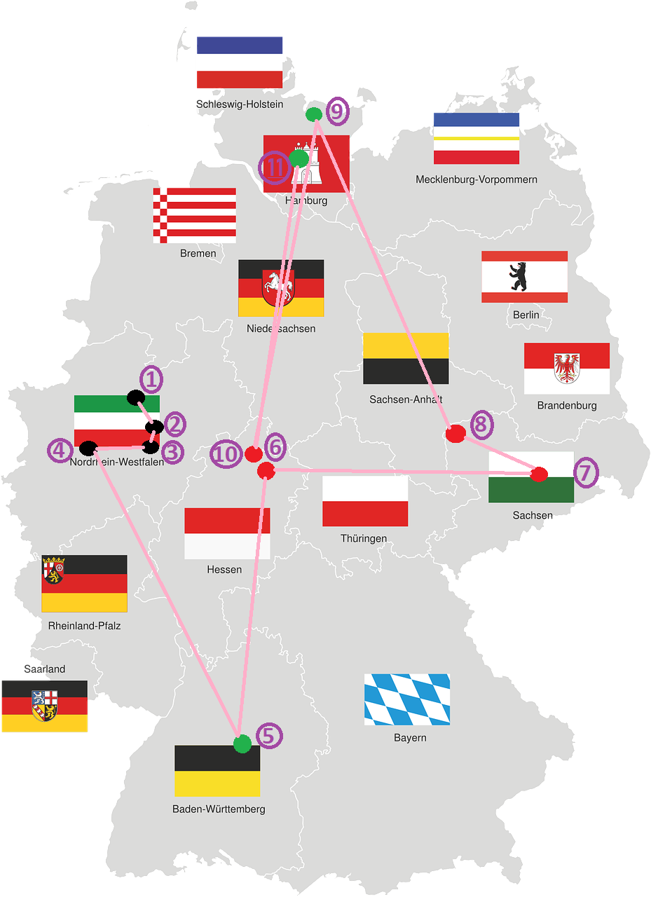 All around Germany - Deutschlandkarte